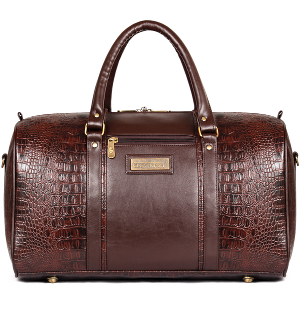 Crocodila leatherette Duffle bag