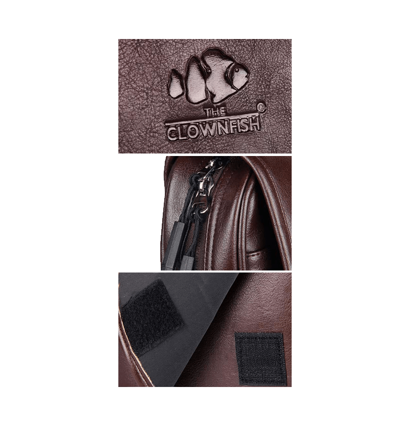 Leatherette Messenger Bag