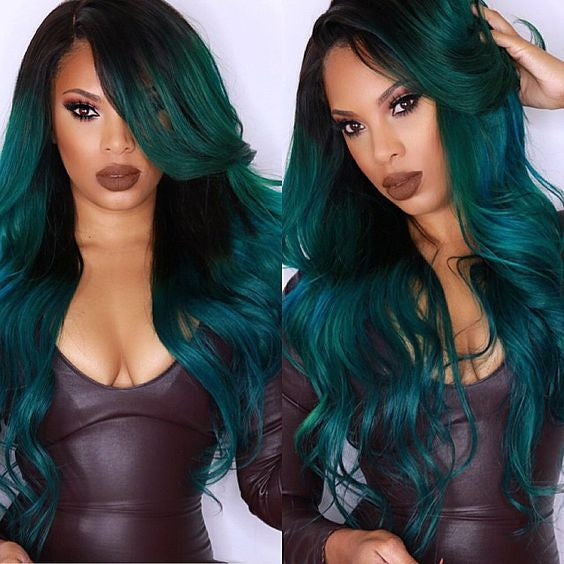 Aquamarine Mermaid full Lace Wig