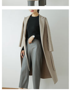 Wool Coat with Fox Fur Collar, Real Wool Jacket, Winter Jacket, Warm Coat.