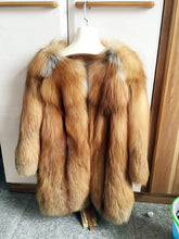Load image into Gallery viewer, Fox Fur Coat, Real Fur Coat with or without Hood, Fox Fur Jacket, Fur Coat.