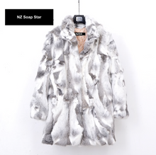Load image into Gallery viewer, Rabbit Fur Coat 78cm Length, Rabbit Fur Jacket, Real Fur Coat, Real Fur Jacket.