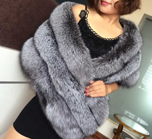 Load image into Gallery viewer, Real Fox Fur Shawl, Fox Fur Cape, Real Fox Fur.