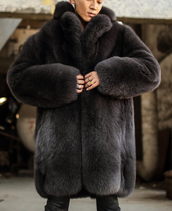 Mens Fox Fur Coat, Real Fur, Genuine Fox Fur.
