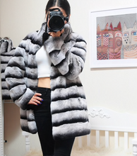 Load image into Gallery viewer, Rex Rabbit Fur Coat , Rabbit Fur Jacket, Real Fur Coat, Real Fur Jacket.