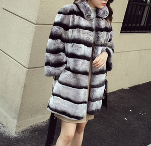 Rex Rabbit Fur Coat , Rabbit Fur Jacket, Real Fur Coat, Real Fur Jacket.