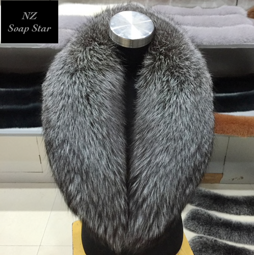 Silver Fox Fur Collar, Real Fur Collar.