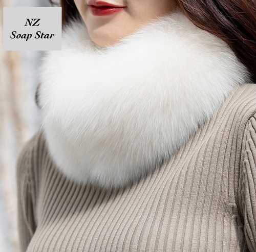 Fox Fur Scarf, Fox Fur Collar, Real Fur Collar.