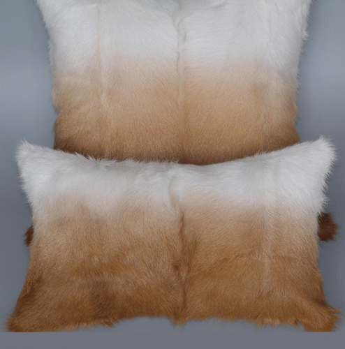 Ombre Goat Skin Cushion Covers, Genuine Fur.