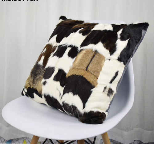 Goat Fur/Skin Cushion Covers, Genuine Fur.