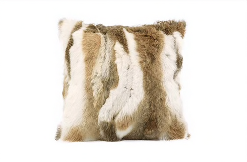 Rabbit Fur Cushion Covers, Patchwork Rabbit Fur, Genuine Fur.