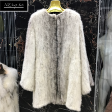 Load image into Gallery viewer, Knitted Mink Fur Coat, Real Mink Fur Jacket.