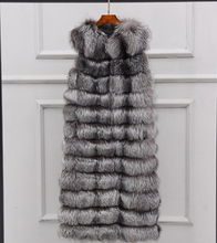 Load image into Gallery viewer, Long Fox Fur Vest, Fox Fur Coat, Real Fur Jacket.