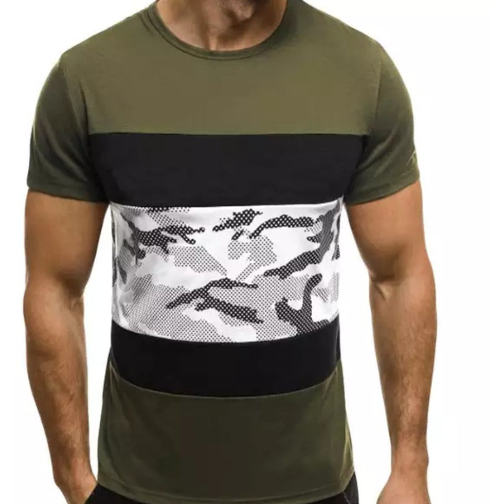 Green Camouflage Men's T-shirt