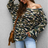 Camouflage Top , Women's slouch style Top