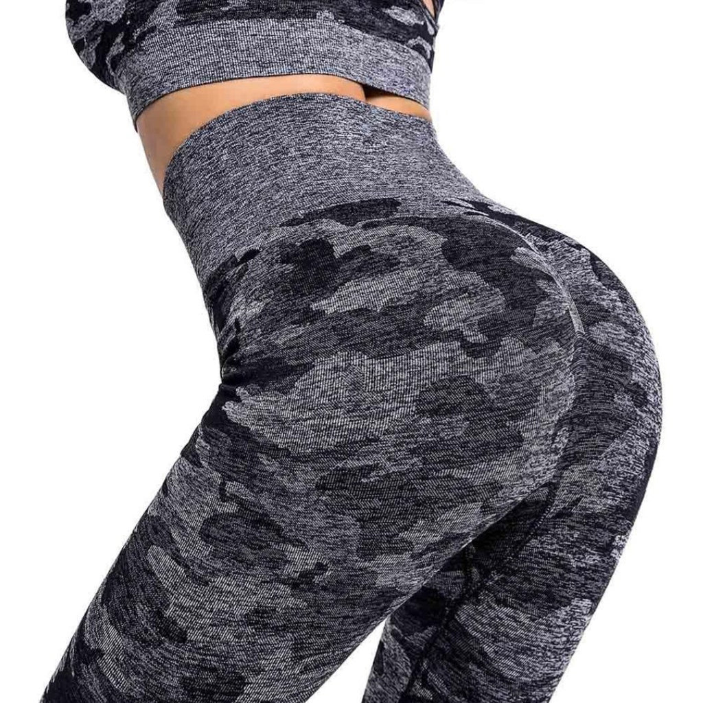Camouflage Dark Grey leggings, (Ina)