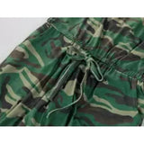 Camo Womens Jumpsuit, Camouflage drawstring waist