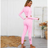 Long Sleeve Pink Activewear set ,Pink Gym Set (Demi)