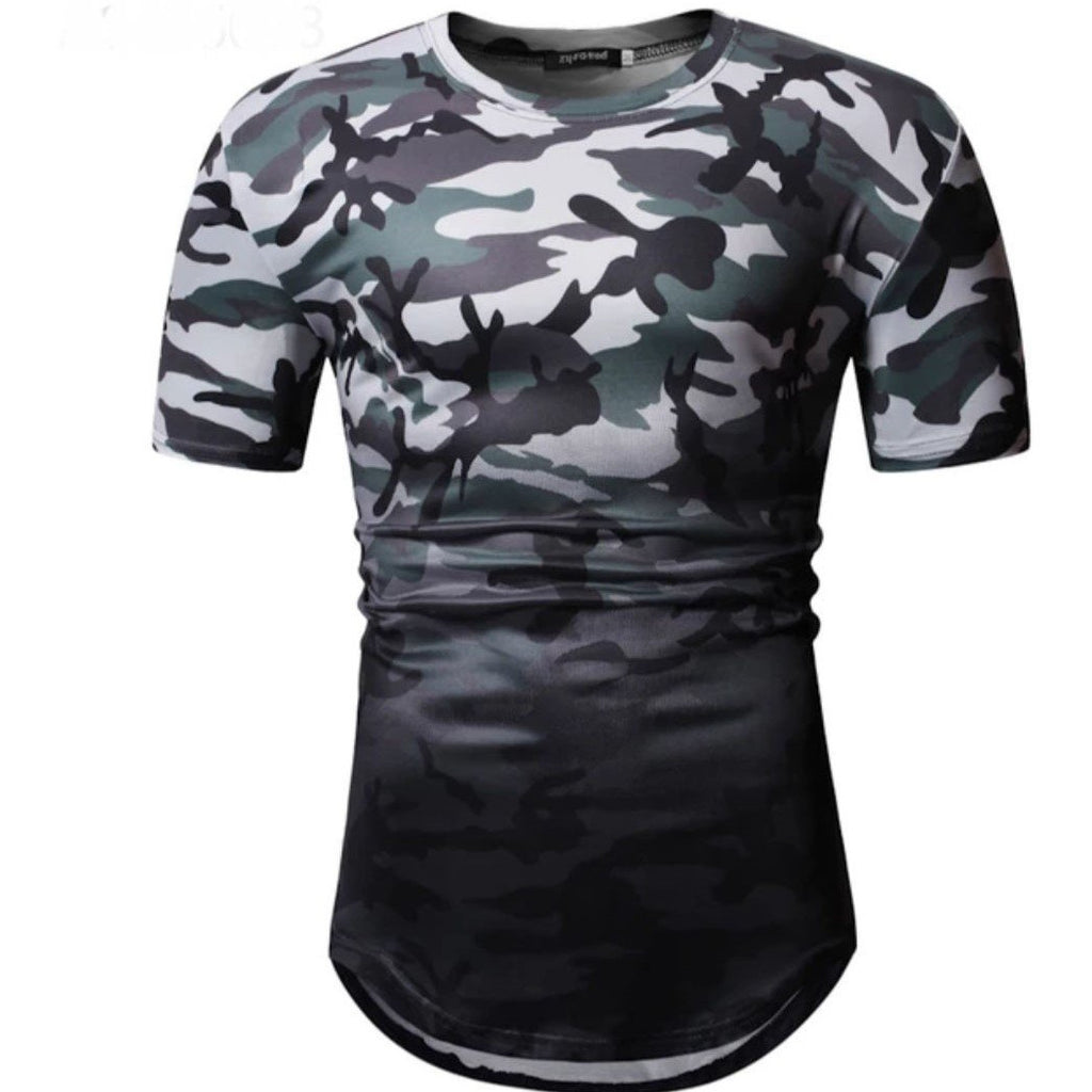 Camouflage Men's Top, Colourblock Men's shirt