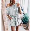 Ladies Grey Star Off shoulder Playsuit