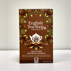 Rooibos, Chocolate y Vainilla de English Tea Shop 40gr. 20 Bolsitas.