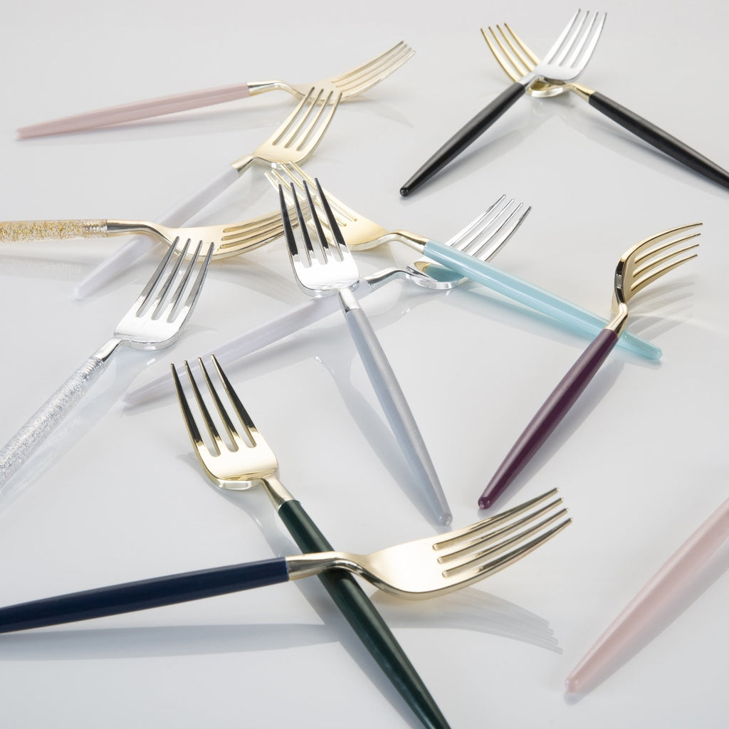 Two Tone Plastic Cutlery | Luxe Party NYC