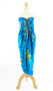 Long Batik Sarong with Fringe