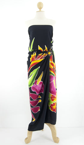 Long Hand-Painted Sarong