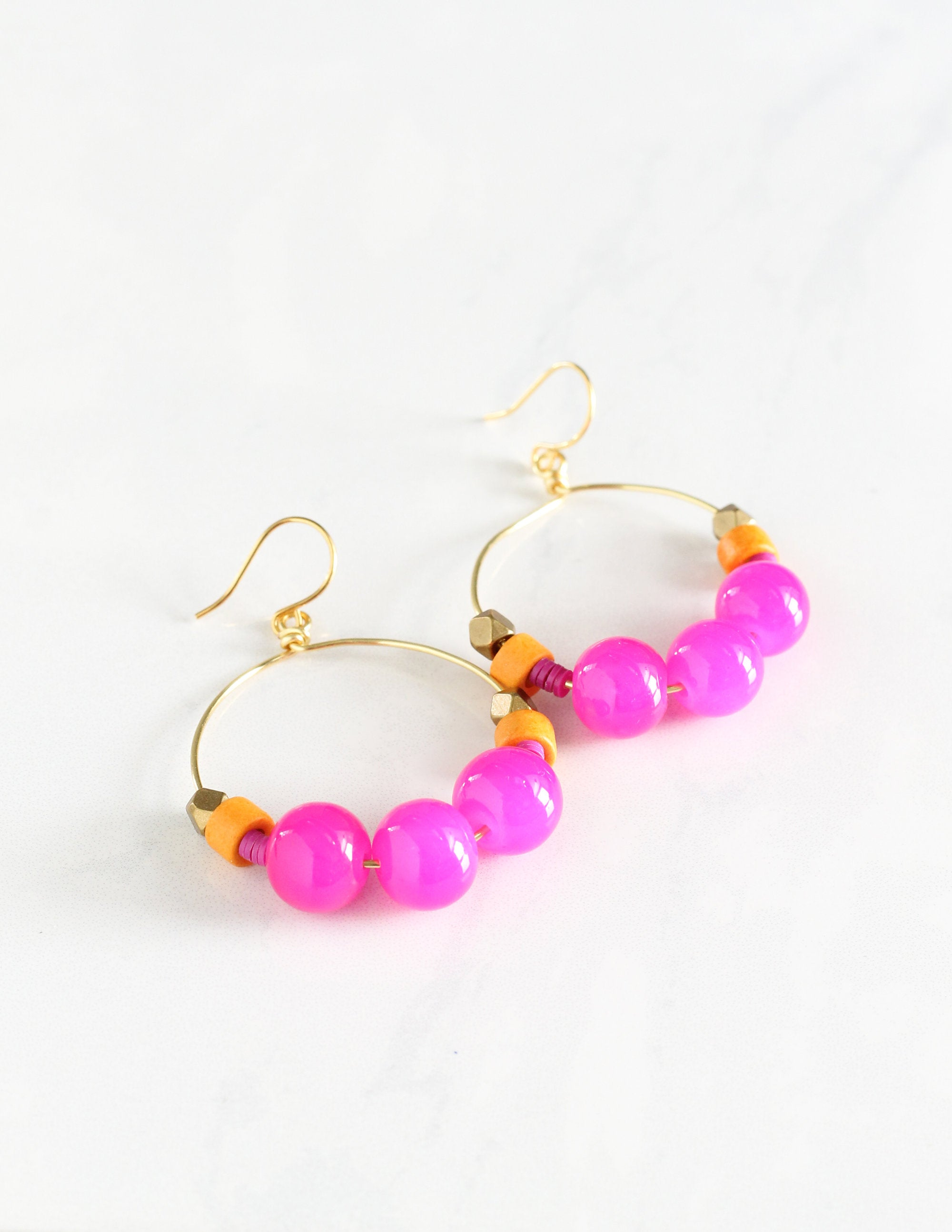 Hot Pink Gumball Earrings