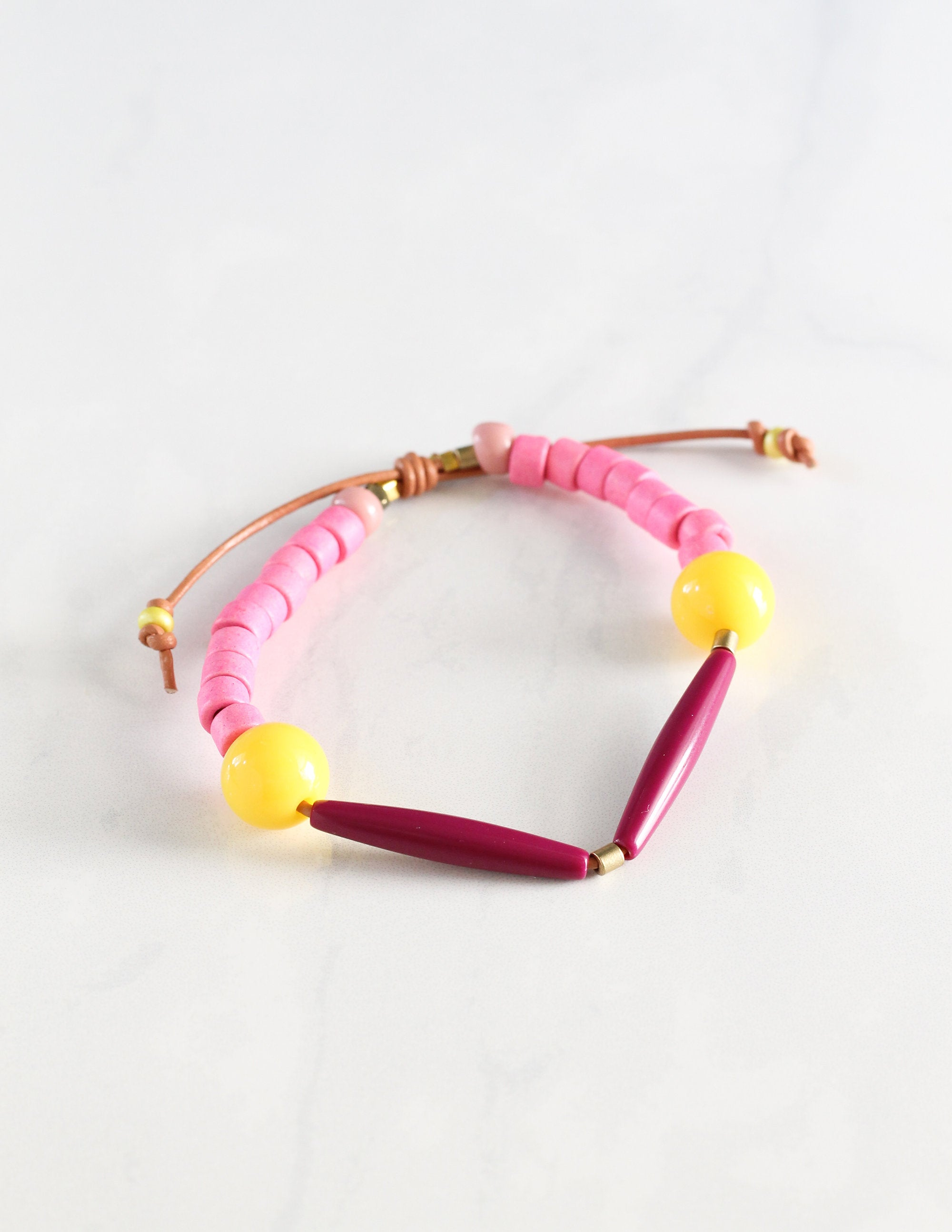 Plum and Pink Bracelet