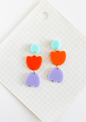 statement flower earrings by Little Bright Studio