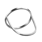 3C/01/s       Simple ring made of 925 silver or 14K gold wire, featuring a circle design wearable in 3 different ways