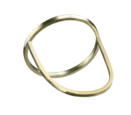 3C/01/g          Simple ring made of 925 silver or 14K gold wire, featuring a circle design wearable in 3 different ways