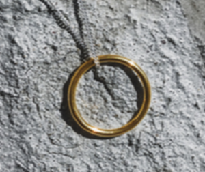 Circle NECKLACE SILVER&GOLD