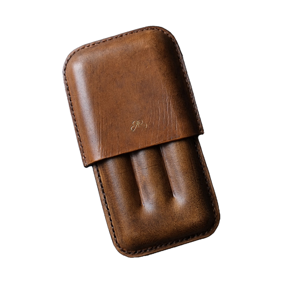 handmade leather cigar case