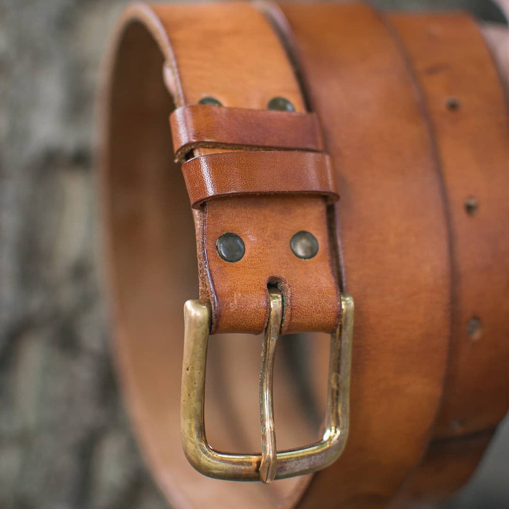 classic handmade leather belt