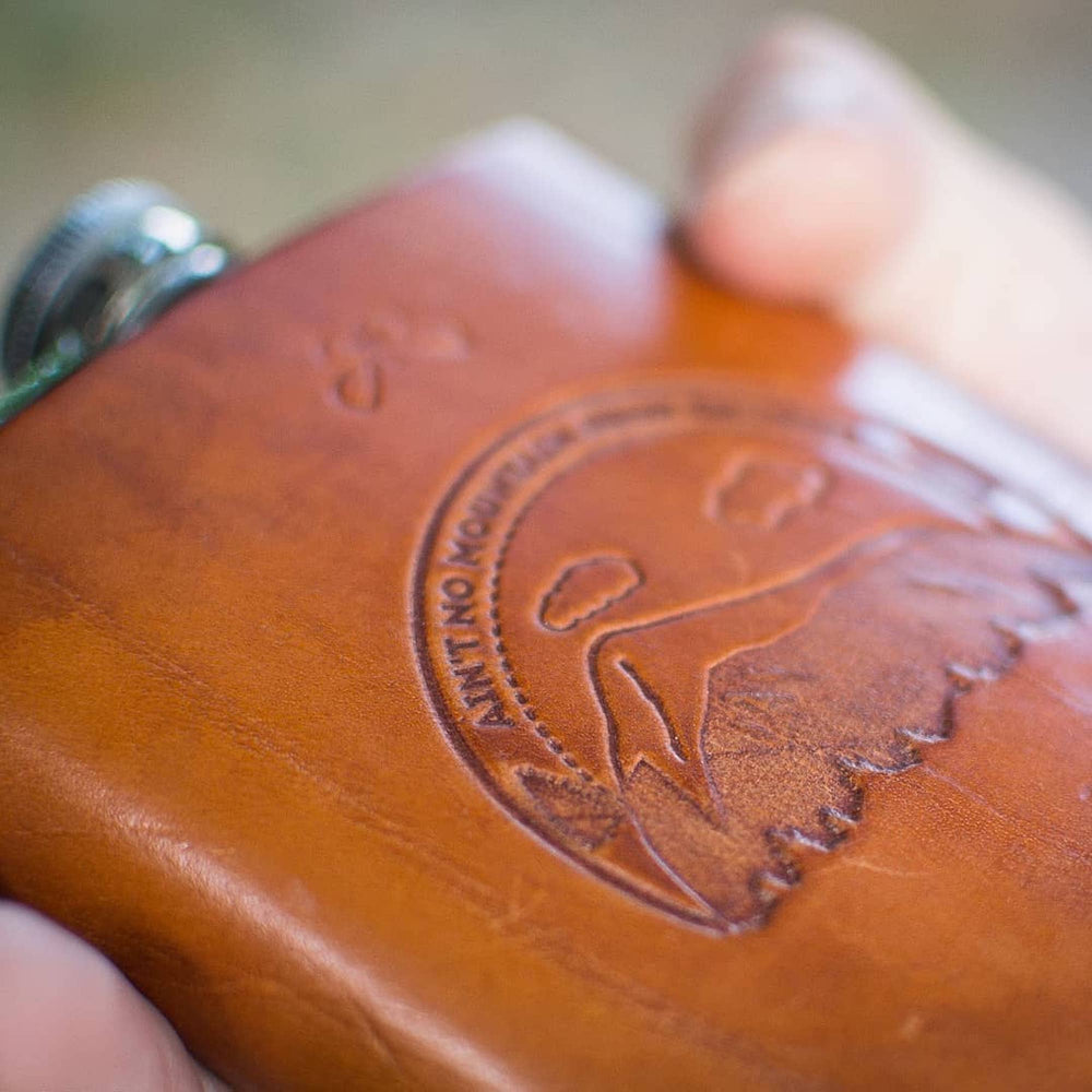 Leather Travel Flask Handmade Customized Gift for Him