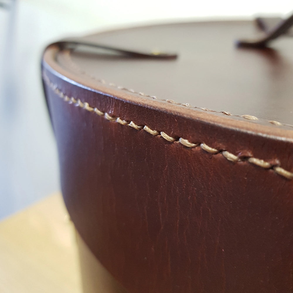 PERSONALIZED LEATHER HAT BOX