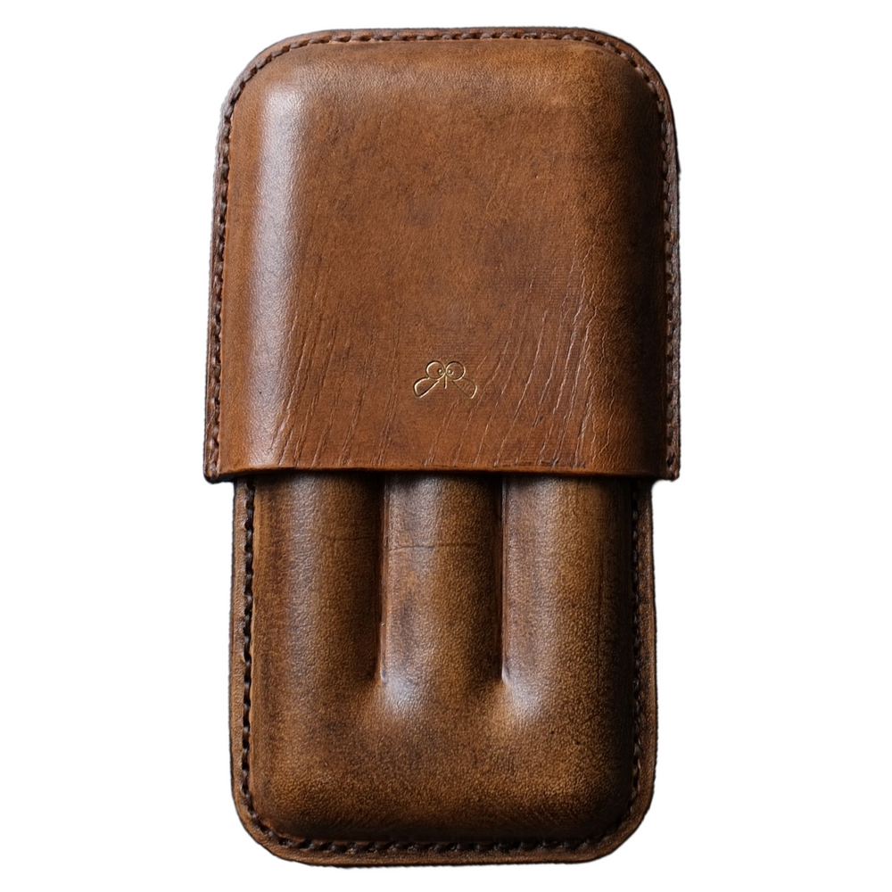 Vintage leather cigar case
