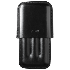 Load image into Gallery viewer, black leather cigar case