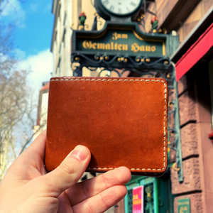 handmade personalized leather wallet gift idea