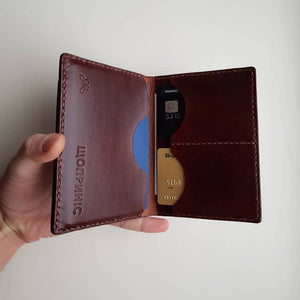 Load image into Gallery viewer, Custom Name Leather Handmade Wallet