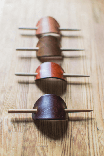 leather hair pin for her