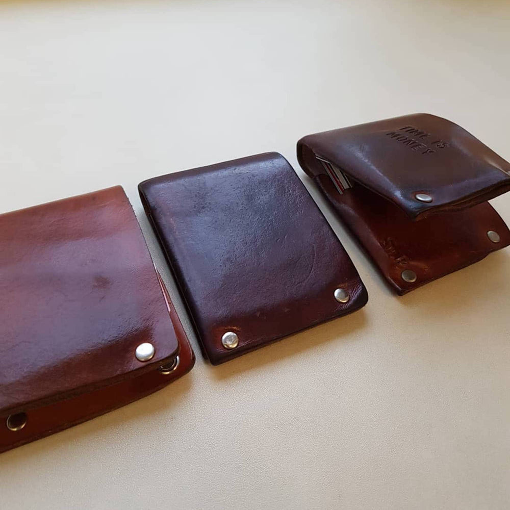 brown leather wallet gift idea
