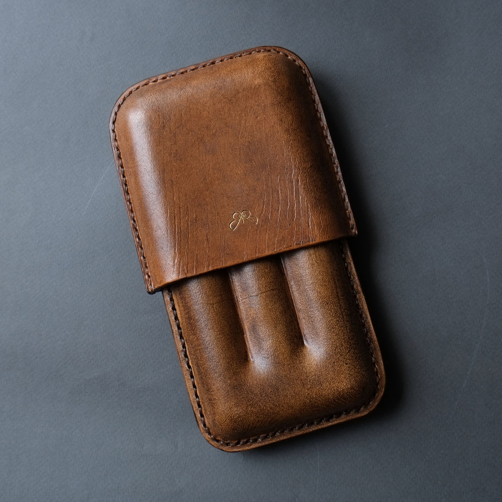 LEATHER CIGAR CASE  /  TAN