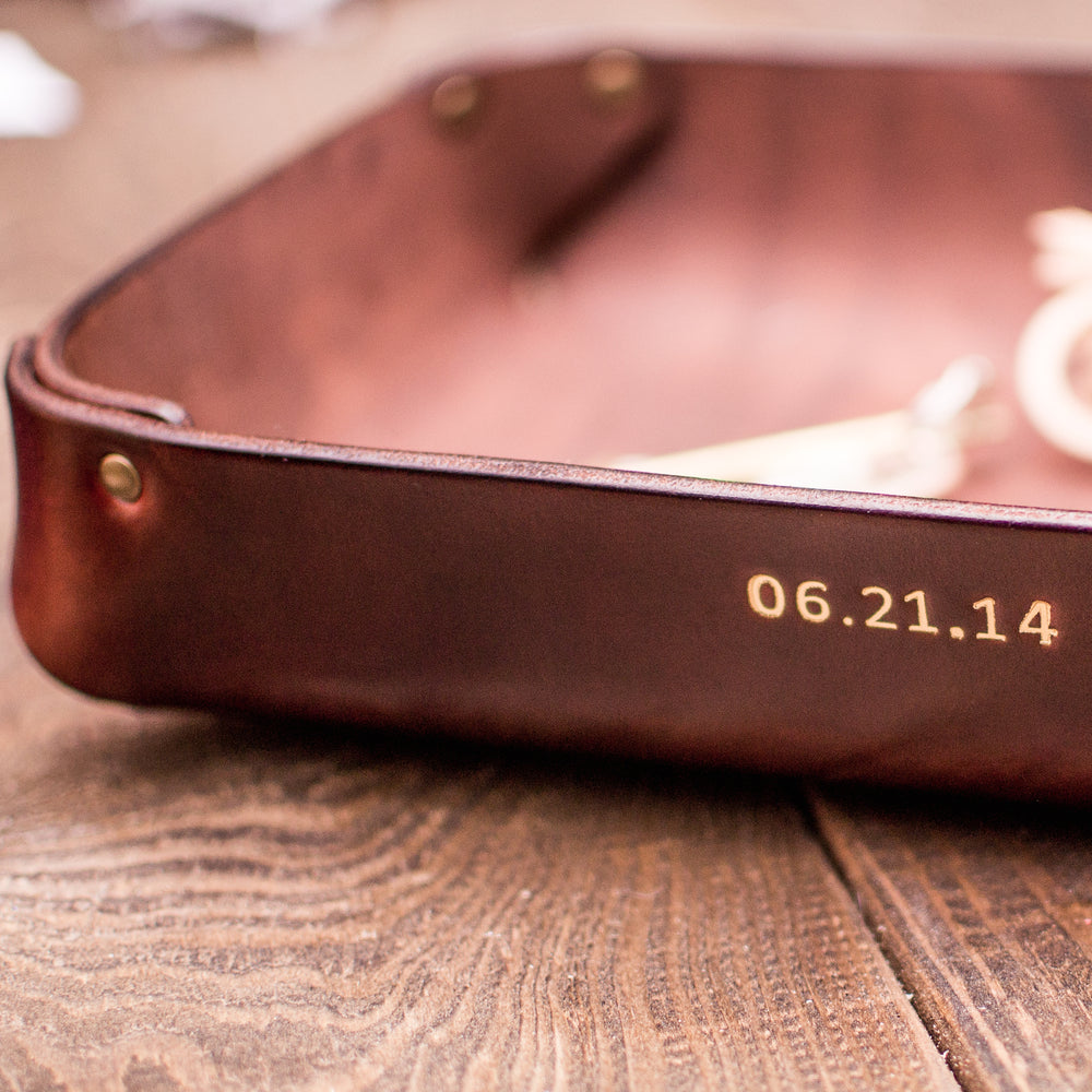 personalized leather gift for father