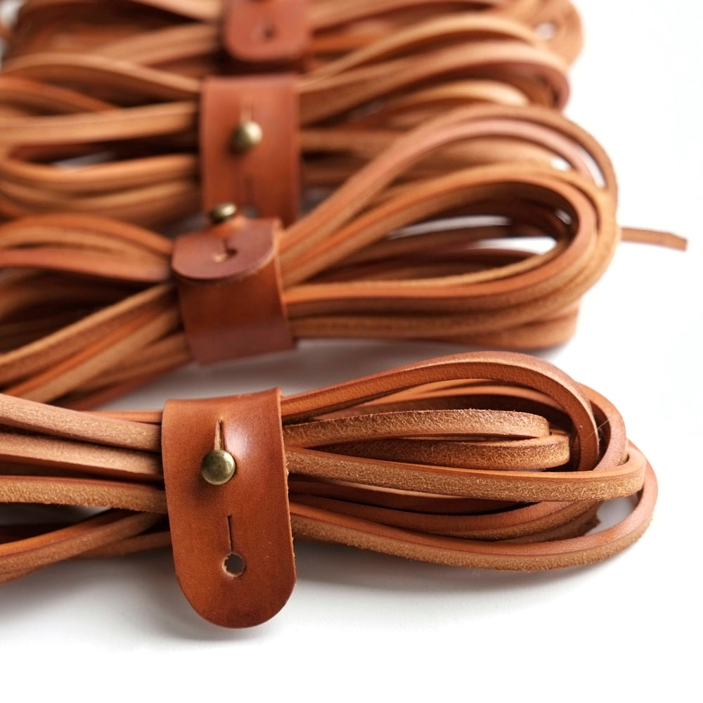 brown leather shoe laces