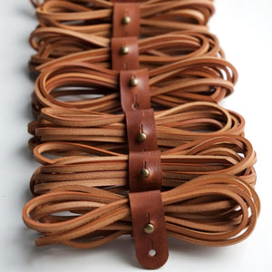 leather shoelaces