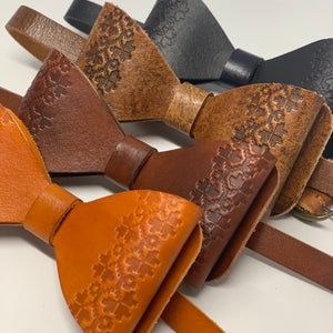 leather bow ties for groomsmen