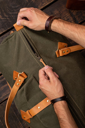 WAXED CANVAS BAG - TRAVEL BAG